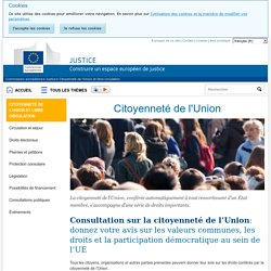 Citoyenneté de l'Union - Commission européenne