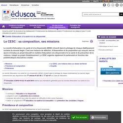 Comité d'éducation à la santé et à la citoyenneté - Le CESC : sa composition, ses missions - Éduscol