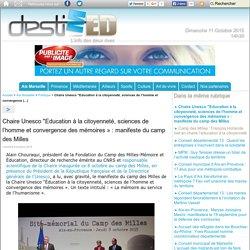 """Chaire Unesco """"Education à la citoyenneté, sciences de l'homme et convergence"""