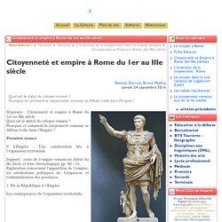 Citoyenneté et empire à Rome du 1er ... - Clio-Lycée