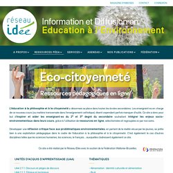 Eco-citoyenneté entry page
