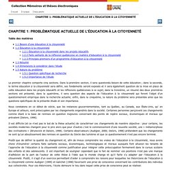 L'éducation à la citoyenneté et les adolescents : comparaison de trois programmes d'établissement