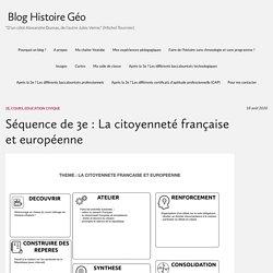 Séquence de 3e : La citoyenneté française et européenne