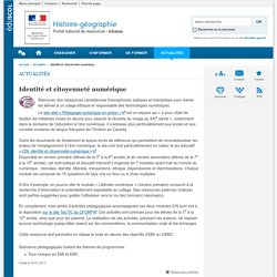 Identité et citoyenneté numérique-Histoire-géographie-Éduscol