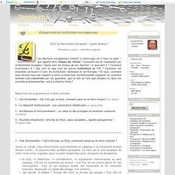 Citoyenneté et institutions européennes
