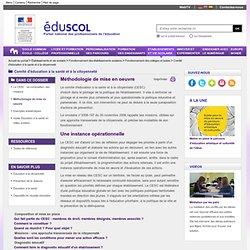 Comité d'éducation à la santé et à la citoyenneté - Méthodologie de mise en oeuvre