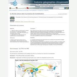 histoire-géographie-citoyenneté - le rôle des acteurs dans le processus de mondialisation