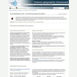 histoire-géographie-citoyenneté - la mondialisation en 4e : un travail de groupe par objectif