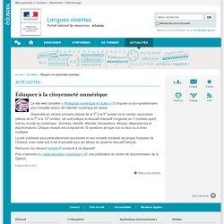 Éduquer à la citoyenneté numérique-Langues vivantes-Éduscol