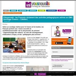 Citoyenneté : les Français réclament des activités pédagogiques actives en EMC (sondage Cnesco – Casden)