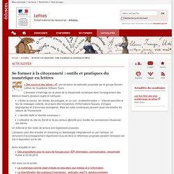 Se former à la citoyenneté : outils et pratiques du numérique en lettres-Lettres-Éduscol