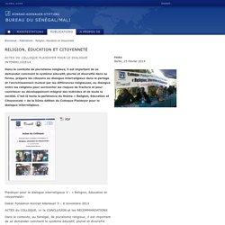 Religion, éducation et citoyenneté, Publications, Bureau du Sénégal/Mali, Konrad-Adenauer-Stiftung