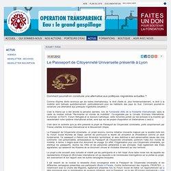 Le Passeport de Citoyenneté Universelle présenté à Lyon