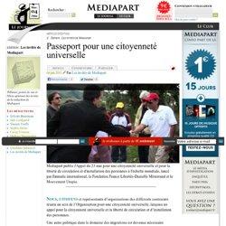 Passeport pour une citoyenneté universelle