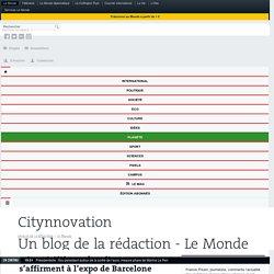 «Smart Cities»: les citoyens s'affirment à l'expo de Barcelone