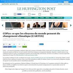 COP21: ce que les citoyens du monde pensent du changement climatique [CARTES]