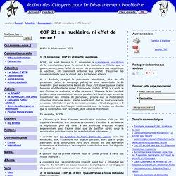 ACDN - Action des Citoyens pour le Désarmement Nucléaire