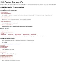 Citrix Receiver Extension APIs