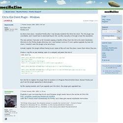 Citrix ICA Client Plugin - Windows