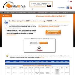 Citroen (C3, C4, Xsara Picasso, Jumper) compatibles ELM 327 et OBD2 - Outils OBD Facile
