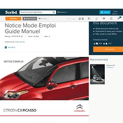 CHANGEMENT D'UN FUSIBLE for CITROEN C3 Picasso Notice Mode Emploi Guide Manuel