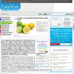 Le citron, un excellent aliment pour votre santé
