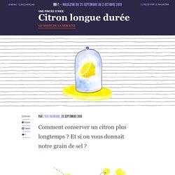 Citron longue durée