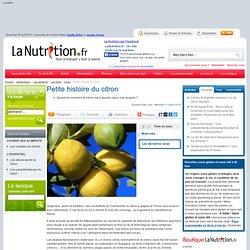 Citron - Petite histoire du citron