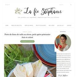 Pesto de fanes de radis au citron, petit apéro printanier frais et coloré - La fée Stéphanie