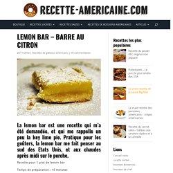 Lemon bar - Barre au citron