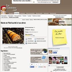 Bûche de Noël au thé et au citron, la recette facile de Bûche de Noël au thé et au citron