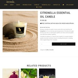 Best Citronella Candles – Citronella Essential Oil Candlefor Mosquito Repellent