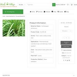 Citronella Essential Oil, Natural Essential Wholesale Supplier in India