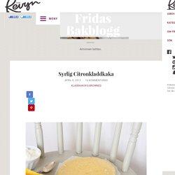 Syrlig Citronkladdkaka – Fridas bakblogg