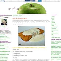 Sauce citronnée pour poisson - O'Délices de CarO