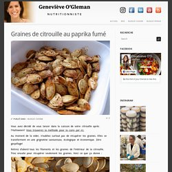 Geneviève O'Gleman – Dt.P. Nutritionniste