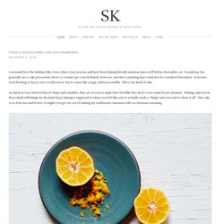 CITRUS & TOASTED FENNEL CAKE WITH CRANBERRIES — SK