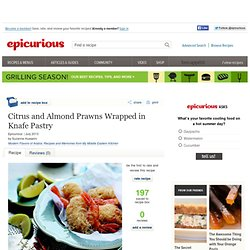 Citrus and Almond Prawns Wrapped in Knafe Pastry Recipe
