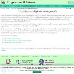 Cittadinanza digitale consapevole - ProgrammaIlFuturo.it