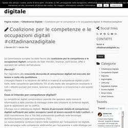 Coalizione per le competenze e le occupazioni digitali #cittadinanzadigitale