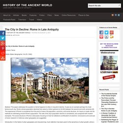 The City in Decline: Rome in Late Antiquity