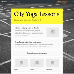 City Yoga Lessons