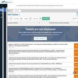 CityFALCON: Real time financial news and tweets for your watchlist