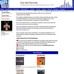 City Hall Records:Independent Record Distribution since 1973