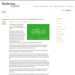 Balderton » Citymapper has raised a $10M investment round led by Balderton Capital