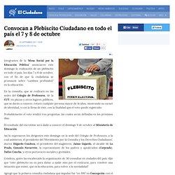 Convocan a Plebiscito Ciudadano en todo el país el 7 y 8 de octubre
