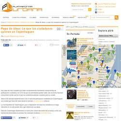 Mapa de ideas: Lo que los ciudadanos quieren en Copenhaguen