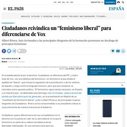 """Ciudadanos reivindica un """"feminismo liberal"""" para diferenciarse de Vox"""