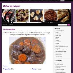 Civet de sanglier - delice en cuisine
