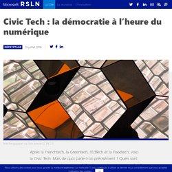 Civic Tech : la démocratie à l'heure du numérique
